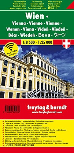 Wien, Stadtplan, 1:8.500 - 1:25.000, Touristenplan, freytag berndt Stadtpläne