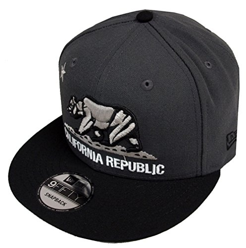 New Era California Republic Graphite Black Snapback Cap 9fifty 950 Limited Edition