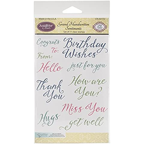 Justrite Papercraft Rubber Just Rite Clear Stamp Set 4-inch x