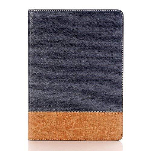 Yimiky iPad 10.5 Hülle mit Ständer, PU Leder Slim Screeen Protector Smart Cover mit Karten Solt Hülle Folio Stand Wallet Hülle für iPad Pro 10.5 (Dunkelblau)