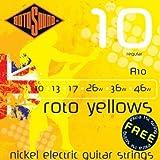 CUERDAS GUITARRA ELECTRICA - Rotosound (R/10) Regular/Roto Yellows (Juego Completo 010/046E)