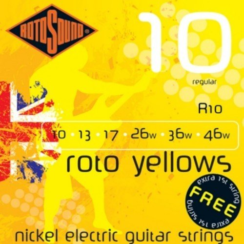 CUERDAS GUITARRA ELECTRICA - Rotosound (R/10) Regular/Roto Yellows (Juego Completo 010/046E)