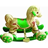 Pihu Enterprises Musical Baby Horse Rider Creem & Green (Mini Turbo)