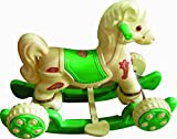 #4: Pihu Enterprises baby Horse Rider Cream & Green