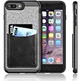 iVAPO Coque iPhone 7 PLUS avec Pochette iPhone 7 PLUS Etui iPhone 7 PLUS en Cuir Prime Housse ...