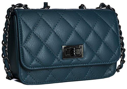 Big Handbag Shop, Poschette giorno donna Blu (Foglia di tè intenso)