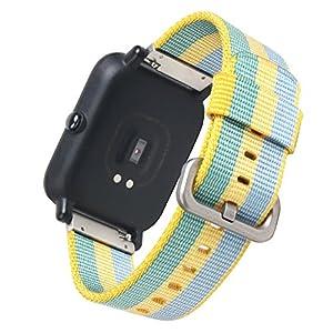 20mm Xiaomi Watch Band SIKAI Ersatz Woven Nylon Gurt für Xiaomi huami aamazfit Smartwatch Quick Release Armband Universal Watch Gürtel mit 316L Stahl Matten Schnalle atmungsaktiv Handgelenk Band
