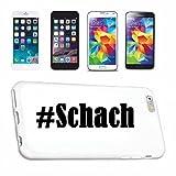 Handyhülle Samsung S8+ Plus Galaxy Hashtag #Schach im Social Network Design Hardcase Schutzhülle Handycover Smart Cover für Samsung Galaxy Smartphone in Weiß Schlank und schön, das ist unser HardCase