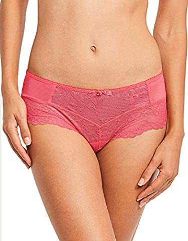 Gossard Women's Superboost Lace Brief, Pink (Hibiscus), 12 (Manufacturer Size:M) pack of 3