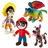 JRhong Juguete de Peluche Disney Pixar - Coco Peluche Conjunto Completo de Personajes de Felpa Originales Mattel Tiny Niños