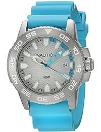 Nautica Reloj Analógico para Hombre de Cuarzo con Correa en Silicona 0656086076325