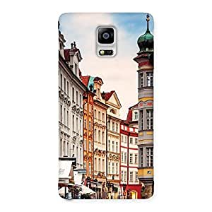 NEO WORLD Remarkable Prague Street Back Case Cover for Galaxy Note 4