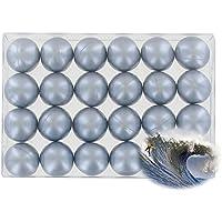 Caja de 24 perlas de aceite de baño nacaradas - plateadas perfume océano