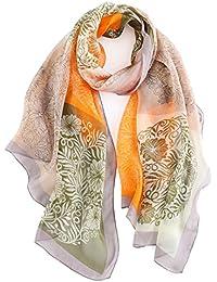 LD Pañuelos Seda Mujer Fular Antialérgico Estolas Regalo Exquisito para Protege el Cuello en Invierno 175 X 65cm