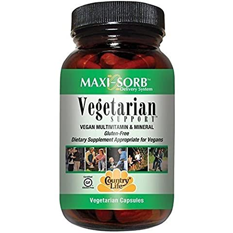 Country Life - Maxi Sorb Vegetarian Support Vegan Multivitamin & Mineral - 120 Vegetarian Capsules by Country Life