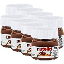 Ferrero Nutella pequeño mini diseño cristal – Set de 8 a 25 g, Pan,