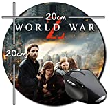 Guerra Mundial Z World War Z Brad Pitt B Tapis De Souris Ronde Round Mousepad PC
