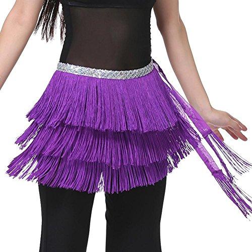 Verkauf Dance Kostüm Tribal Für - Wgwioo Dance accessories Lady's Bauchtanz kostüm hip schal gürtel tribal Fringe quaste wrap gürtel DREI Schichten/Packung mit 2 / 1 f