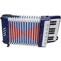 Ammoon Acordeón Mini Small 17-Key 8Bass Instrumento Musical Educativo Juguete para Niños Los niños principiantes aficionados regalo de Navidad