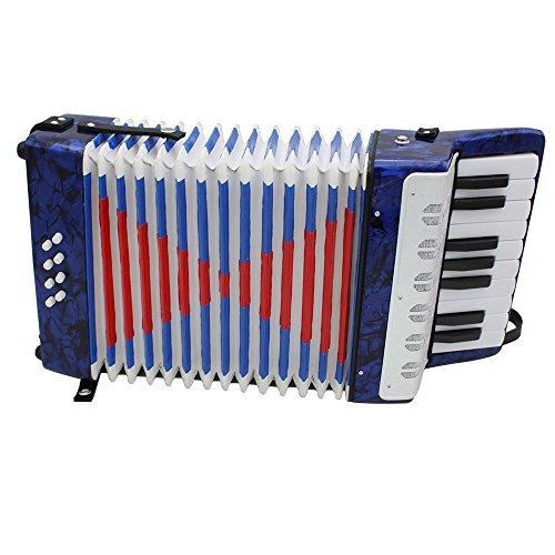 n, Klein, 17Tasten, 8Bass-Knöpfe, 1Blasebalg, Akkordeon, lehrreiches Musikinstrument / Spielzeug für Kinder & Anfänger ()
