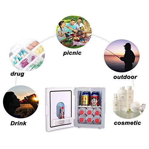 51Dfx dZnPL - JCDZSW Mini refrigerador 10L Caja de calefacción y refrigeración electrónica de Doble propósito para automóvil Familiar, refrigerador para la Piel, Alimentos, medicamentos, hogar y Viajes