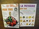 Lot de 2 livres de Ginette Mathiot La cuisine pour tous + La patisserie pour tous