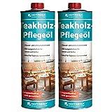 2 x HOTREGA Teak- und Hartholz-Pflegeöl 1000ml Dose