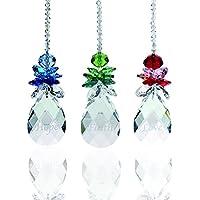 Desconocido H&D - Colgante de ángel de la guarda de cristal para colgar, decoración navideña con colgante de gota, paquete de 3