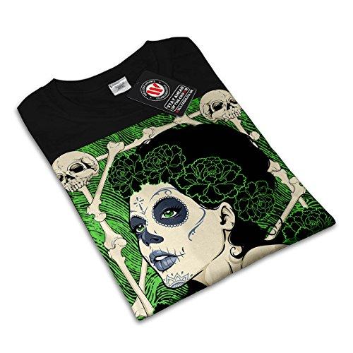 schaurig Schädel Mädchen Horror Damen S-2XL T-shirt | Wellcoda Black