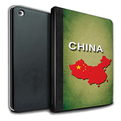 STUFF4 PU-Leder Hülle/Case/Brieftasche für Apple iPad Air 2 tablet / China/Chinesisch Muster / Flagge Land Kollektion