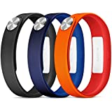 Sony Mobile Large A1 SmartBand Wrist Straps - Orange/Blue/Black
