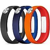 Sony Pack de 3 Bracelets pour SmartBand SWR110 Taille L Noir/Rouge/Marine