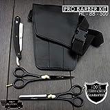 Profi Friseur Schere Barber/Salon Scheren Set 15,2cm mit Tasche und Rasierer