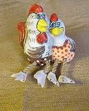 Europesouvenir Handmade Keramik Dekoration Huhn Pärchen - MH017