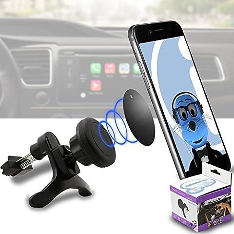 Caso compatibile Multi-direzione (da usare con o senza il vostro caso esistente!) {Color} Magnetic Air Vent In Car Holder per Xiaomi Redmi 3S