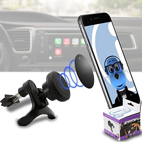 Case Kompatibel Multi-direction (Verwendung mit oder ohne vorhandene Kiste!) Schwarz Magnetische Lüftungsöffnung im KFZ-Halter für HTC P3350