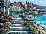 Steps of St. Tropez Von Behrens, Howard Kunstdruck auf Leinwand - Klein (41 x 30 cms )