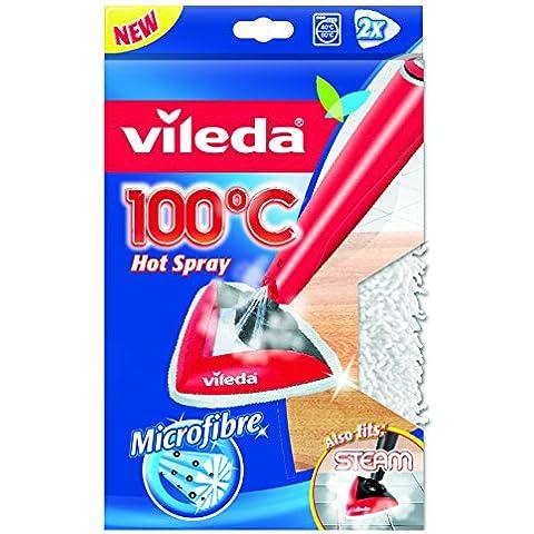 Vileda Recambio 100º/Steam - Gamuzas de microfibras para Vileda 100º y Steam
