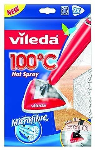 """Vileda Ersatzbezug für 100 Grad """"Hot Spray"""" und Steam Dampfreiniger (2x 1 Stück)"""