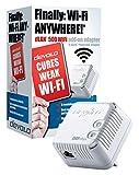 devolo dLAN 500 Wi-Fi Add-On Powerline Adapter (1x PLC Homeplug Adapter, 1 x LAN Port, WiFi Signal Booster, Wireless Range Extender, Wi-Fi Move, Power Save) - White