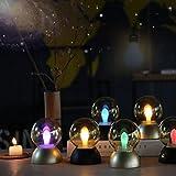 Oyedens USB Dekorative Party LED Schlafzimmer Cartoon Vintage Leuchtbirne Leuchtend Nachtlicht energiesparendes Lampen Lichtfestival dekoratives Licht LED Kronleuchter Kerze Flamme energiesparende intelligente Glühbirne Lampe Notbeleuchtung Glühbirne Nachtlicht (A, Gold)