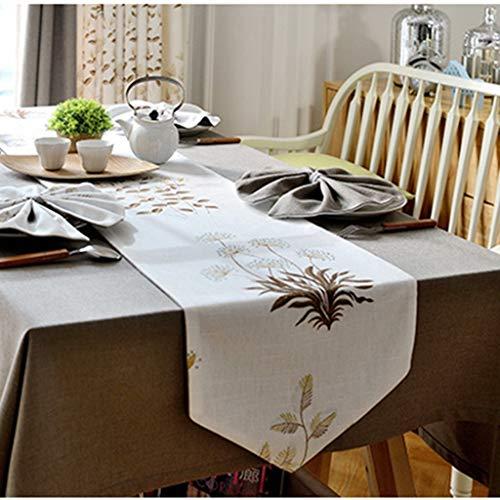 XQY Haupttischläufer, Hotel-Restaurant-Tischdecken, Tischläufer-europäischer Art-Tischdecken-Rechteck-Haushalts-Kaffeetisch-Fernsehkabinett-Gewebe-moderner unbedeutender,35 × 200 cm