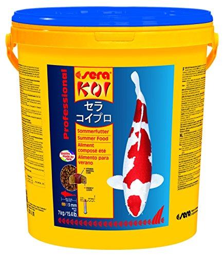 sera 07018 KOI Professional Sommerfutter 7 kg - Für die Extraportion Energie bei Temperaturen über 17 °C mit einem ausbalancierten Protein/Fett-Verhältnis