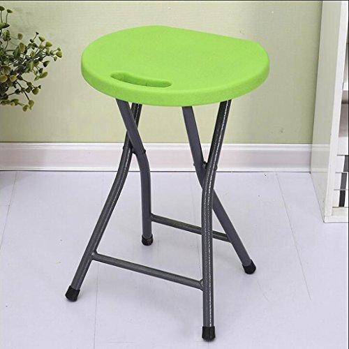 Klappstuhl Plastikfalten-Schemel-Haushalts-Speisetisch-Erwachsener hoher Schemel-Kleiner Bank-Stuhl-einfache Portable verdicken kreative Mode (Farbe : A)