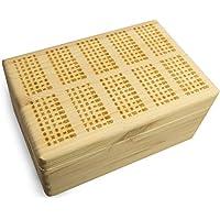 Preisvergleich für Grinscard Aufbewahrungskiste aus Fichtenholz in Größe M - Einmaleins Lasergravur - Liebevoll Gestaltet am Niederrhein - LAUBLUST