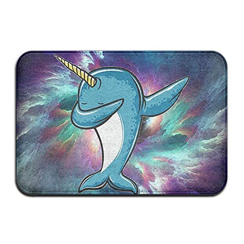 lijied Kawaii Cartoon Narwhal Ready to nce Bright Colorful Rectangle Front Welcome Door Mat Outdoor Indoor Entrance Doormat Durable Heat-Resisting Non-IP Rug Size 23.6x15.7 Inches Area Rugs Area Rugs