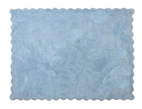 Aratextil Lisa Alfombra Infantil, Algodón, Celeste, 120x160 cm