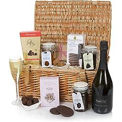 Cesta de elección gourmet - Cesta de lujo y de regalos - Navidad, Cumpleaños - Cesta de Prosecco y de comida