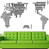 Estrella del fútbol mundial Mapas Creative Decoracion pegatinas de pared adhesivo en la nevera DIY Vinilos paredes adhesivo carteles retro HH1294,como imagen