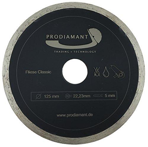 PRODIAMANT Diamant-Trennscheibe Fliese 125 mm x 22,2 mm Diamanttrennscheibe 125mm